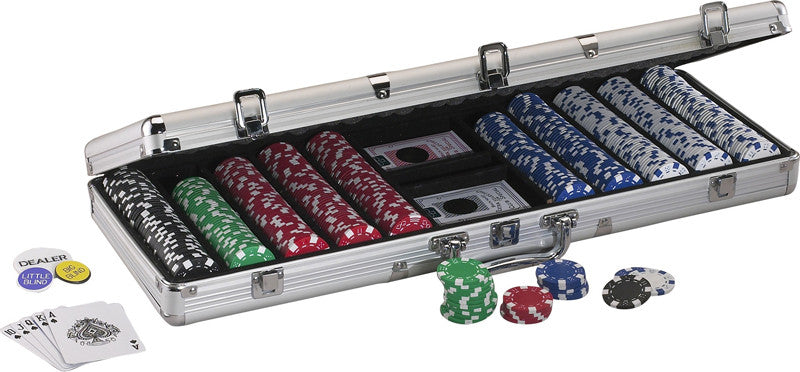 Fat Cat 55-0605 500Ct Texas Hold'Em Dice Poker Chip Set