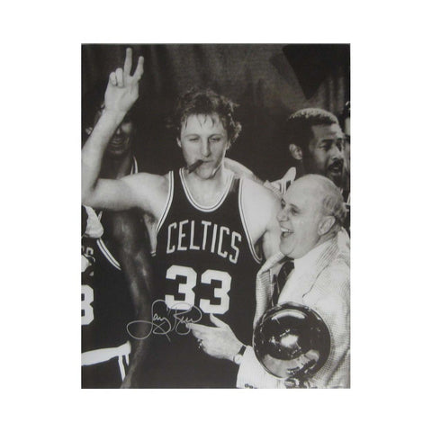 "Autographed Larry Bird 16X20 Inch Photo ""Smoking Cigar"" - Peazz Toys"