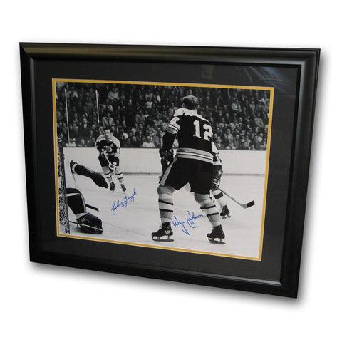 Autographed Johnny Bucyk/Wayne Cashman Framed 16x20 Photo - Peazz Toys
