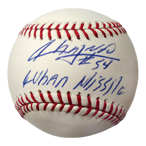 Autographed Aroldis Chapman Official Major League Baseball inscribed - Peazz Toys