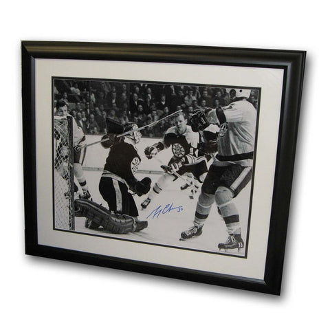 Gerry Cheevers Autographed Framed 16X20 Photo. - Peazz Toys