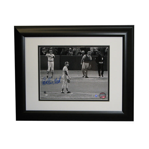 "Autographed Carlton Fisk 8-By-10-Inch Framed Photo ""75 World Series Homerun"" (MLB Authenticated) - Peazz Toys"