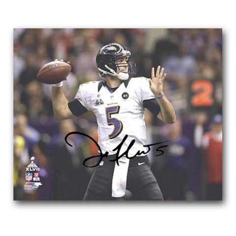 Baltimore Ravens Joe Flacco Superbowl 47 16X20 Unframed Autograph - Peazz Toys