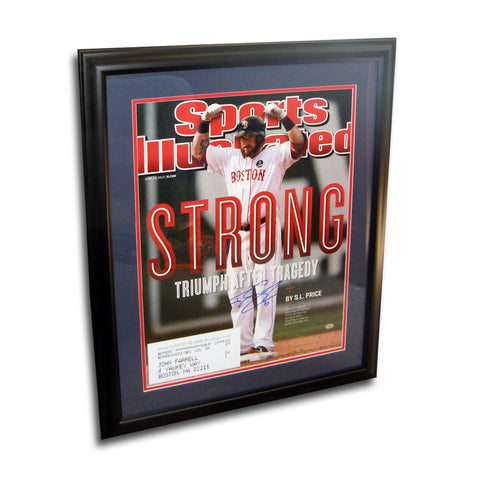 Autographed Jonny Gomes 16-by-20 inch framed Sports Illustrated Boston Strong cover. - Peazz Toys