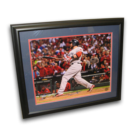 Autographed Jonny Gomes 16-by-20 inch framed 2013 World Series photo. - Peazz Toys