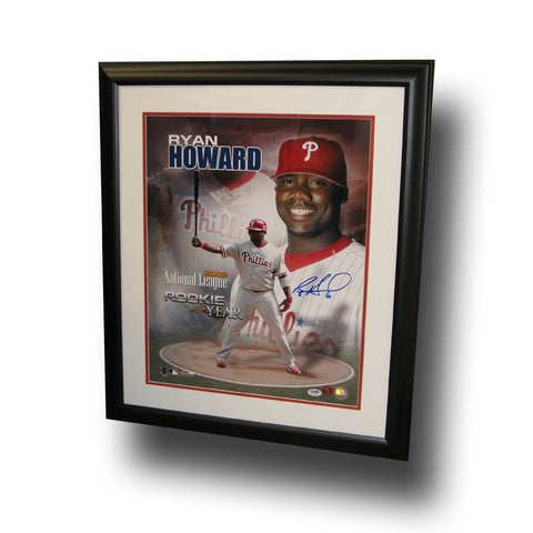 "Autographed Ryan Howard 16X20 Framed Photo ""Roy Collage"" - Peazz Toys"