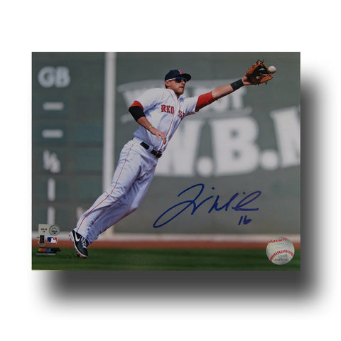 Autographed Will Middlebrooks 8-by-10 Inch Unframed Fielding Photo - Peazz Toys