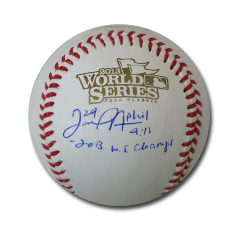 "Autographed Daniel Nava 2013 World Series baseball inscribed ""2013 World Series Champs"" - Peazz Toys"
