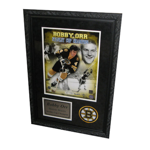 Autographed Bobby Orr 11X14 Framed Champion Collage - Peazz Toys