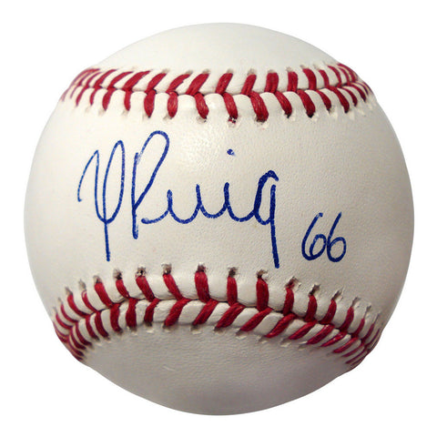 Autographed Yasiel Puig Official MLB Baseball - Peazz Toys