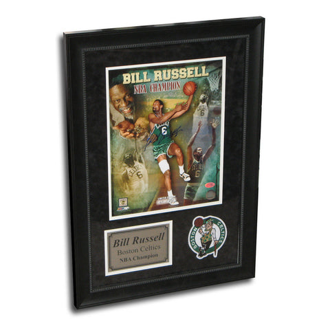 Autographed Bill Russell 11X14 Framed Champ Photo - Peazz Toys