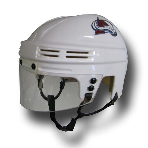 Official NHL Licensed Mini Player Helmets - Colorado Avalanche (White) - Peazz Toys