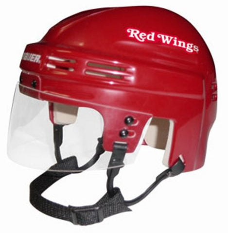 Official NHL Licensed Mini Player Helmets - Detroit Redwings - Peazz Toys