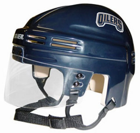 Official NHL Licensed Mini Player Helmets - Edmonton Oilers - Peazz Toys