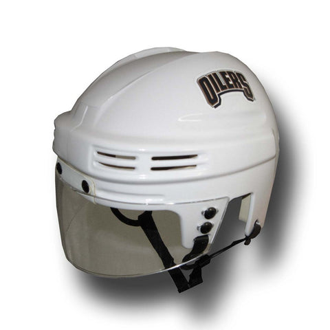 Official NHL Licensed Mini Player Helmets - Edmonton Oilers (White) - Peazz Toys