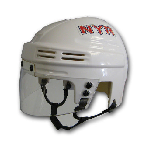 Official NHL Licensed Mini Player Helmets - New York Rangers - Peazz Toys