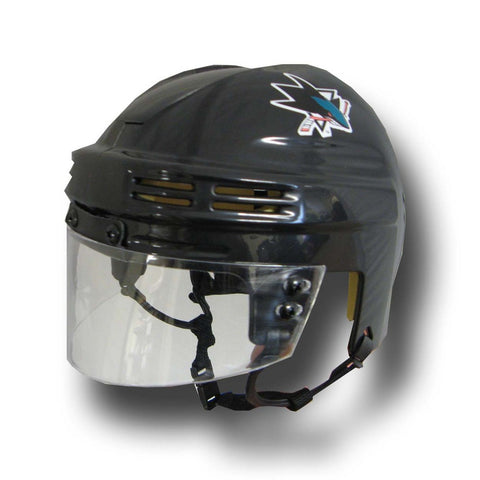 Official NHL Licensed Mini Player Helmets - San Jose Sharks - Peazz Toys