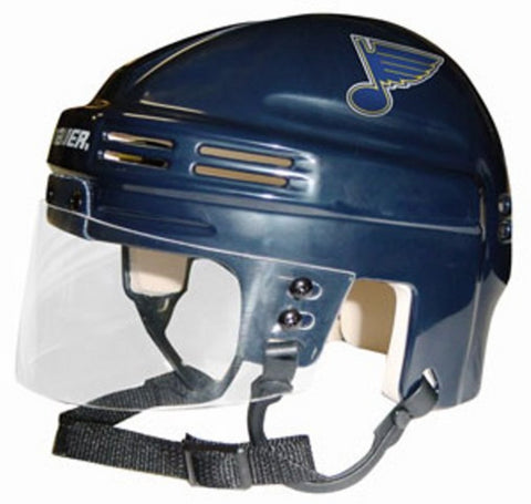 Official NHL Licensed Mini Player Helmets - St Louis Blues - Peazz Toys