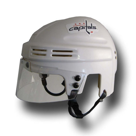 Official NHL Licensed Mini Player Helmets - Washington Capitals (White) - Peazz Toys