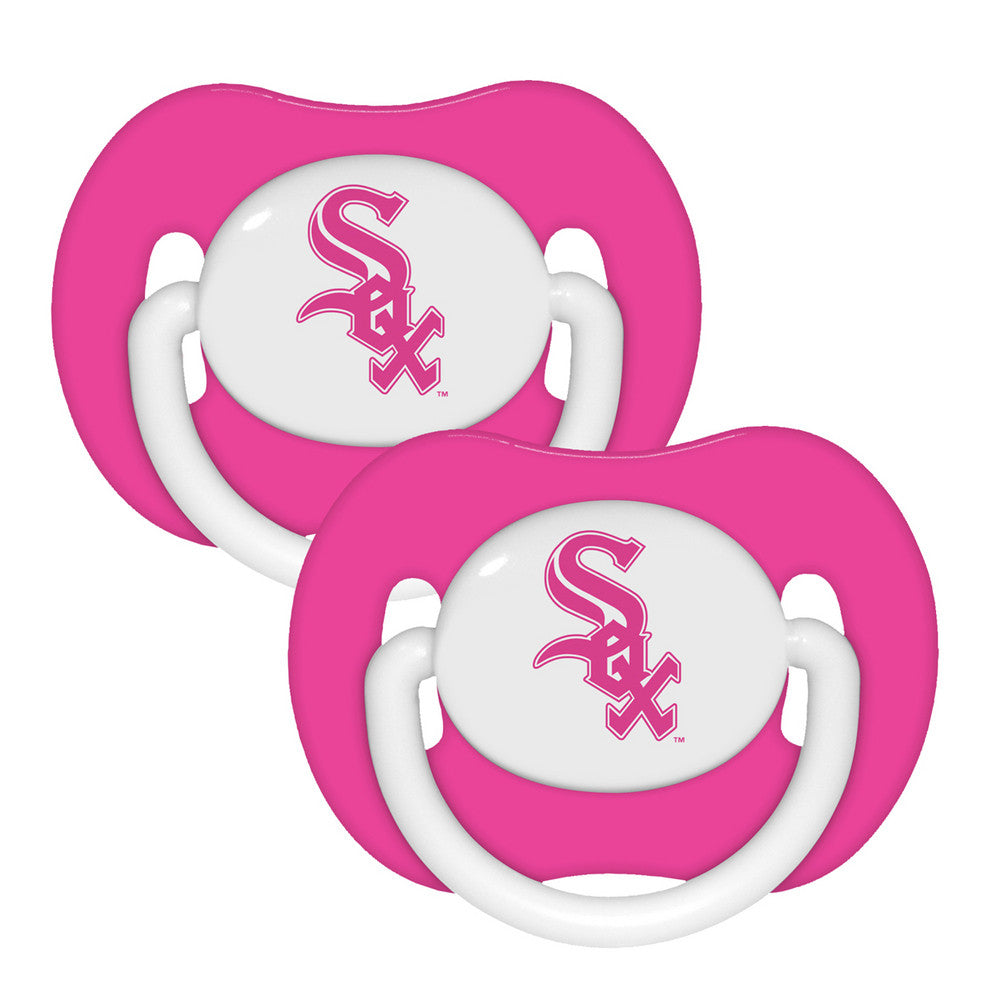2 Pack Pink Pacifiers Chicago White Sox