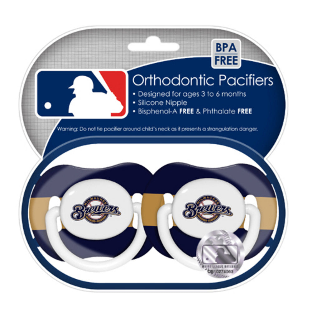 2 Pack Pacifiers Milwaukee Brewers