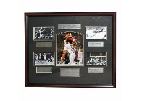 Framed 20X24 Photo Collage, Boston's Greatest Moments - Peazz Toys