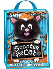 Lisa LeLeu W12343 Scooter The Cat Play Set with Puppet