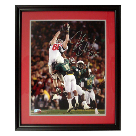Autographed Jake Ballard 16X20 Framed Photo. - Peazz Toys