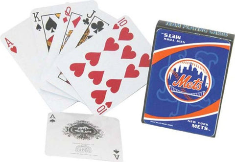 MLB Team Playing Cards - Mets - Peazz Toys