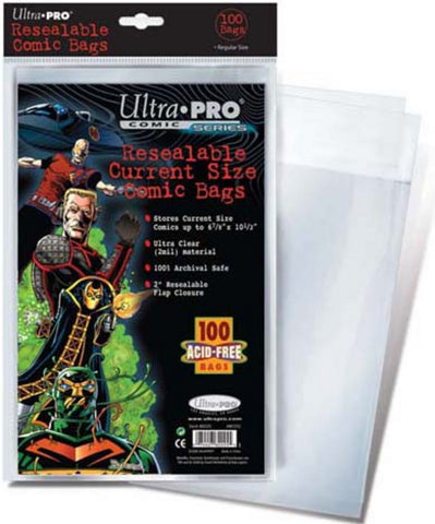 Ultra Pro Resealable Current Size Comic Bags - Peazz Toys