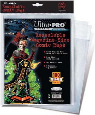 Ultra Pro Resealable Magazine Size Comic Bags - Peazz Toys