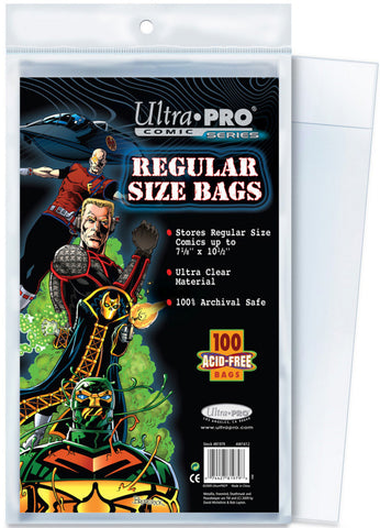 "Ultra Pro Regular Size Bags, 7""? X 10 3/8""?  (100/Pack) - Peazz Toys"