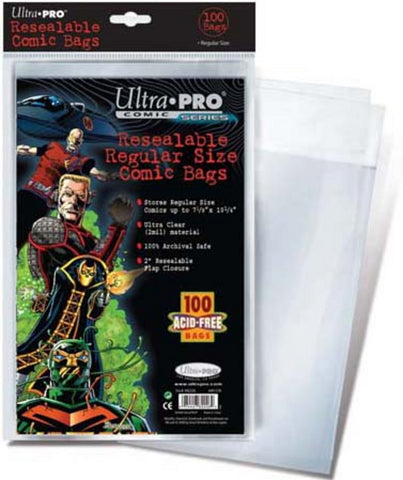 Ultra Pro Resealable Regular Size Comic Bags - Peazz Toys