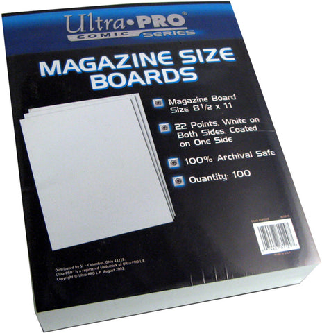 Ultra Pro Magazine Size Boards, 8 ½ X 11 (100/Pack) - Peazz Toys