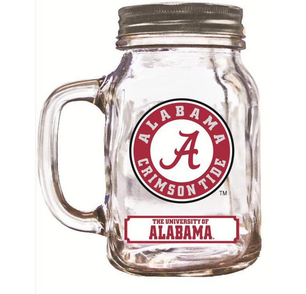 16Oz Mason Jar Alabama Crimson Tide