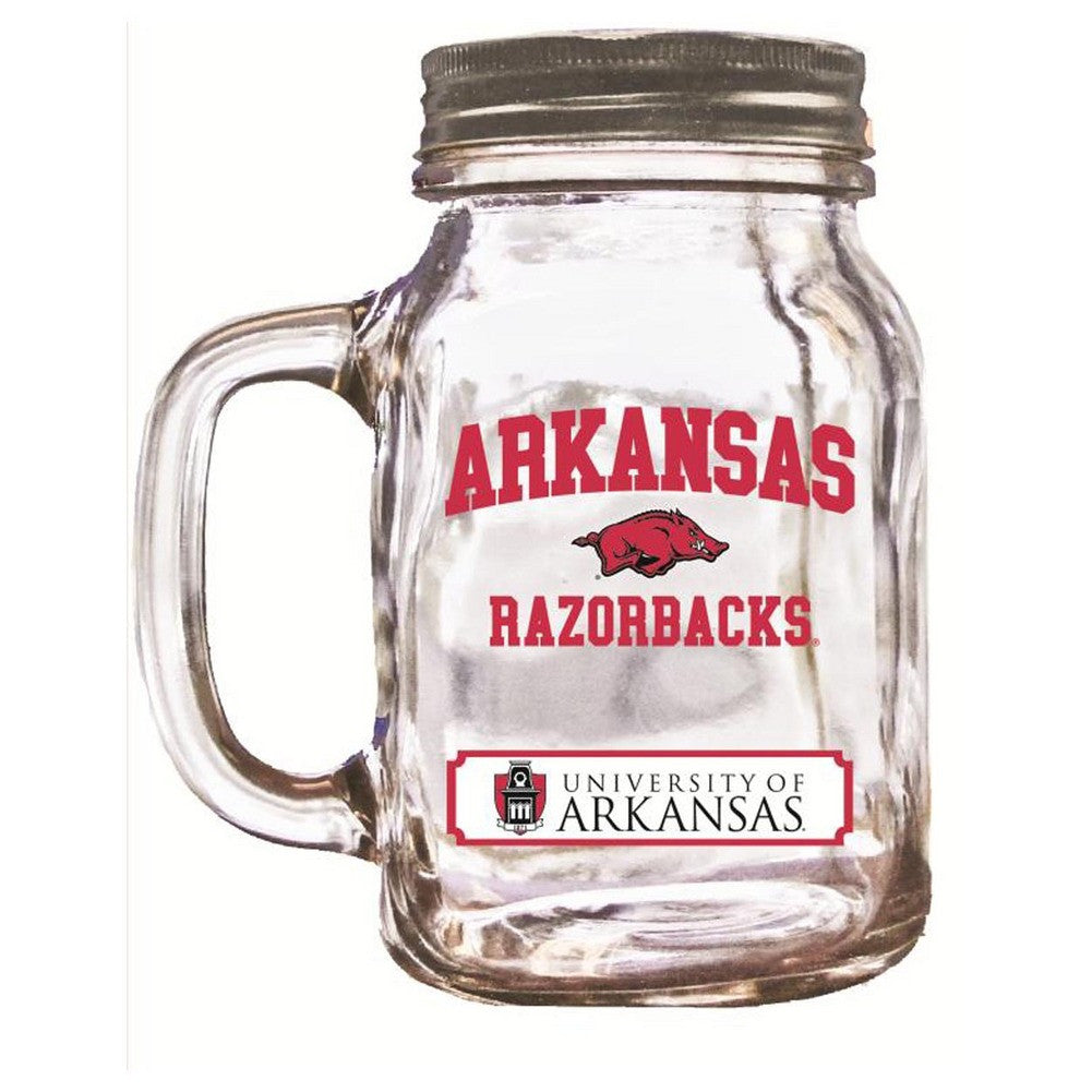 16Oz Mason Jar Arkansas Razorbacks