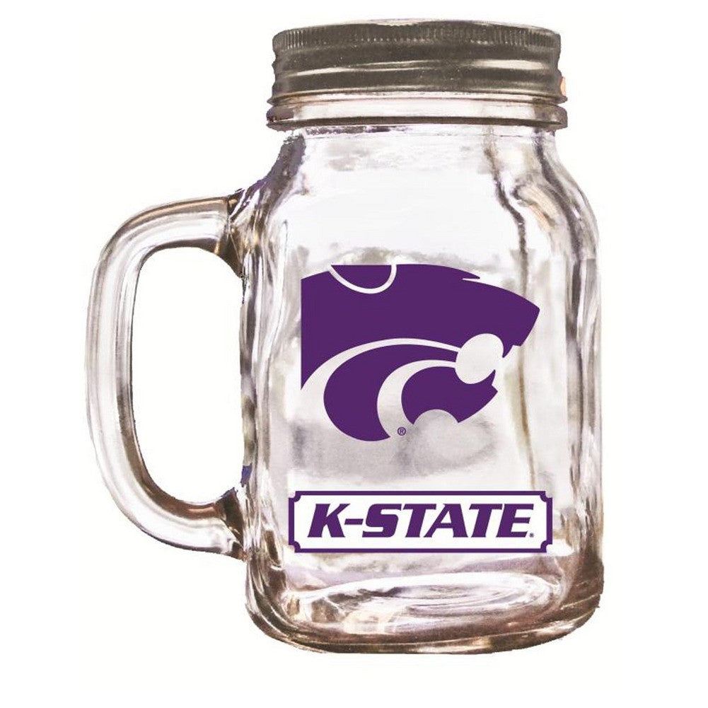 16Oz Mason Jar Kansas State