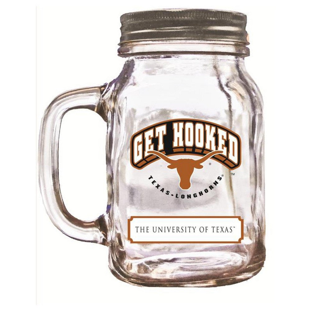 16Oz Mason Jar Texas Longhorns