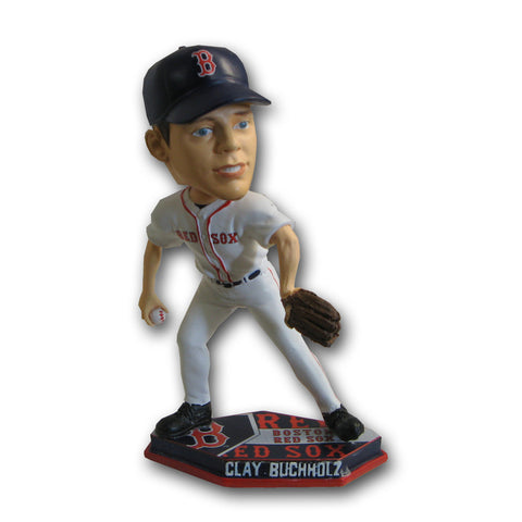 2011 Forever MLB Plate Base Bobblehead - Boston Red Sox - Clay Buchlz - Peazz Toys