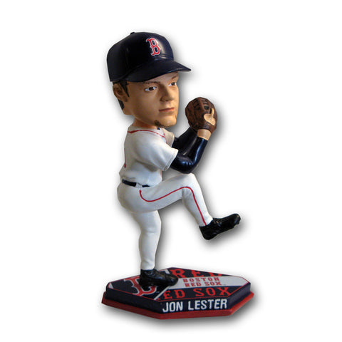 2011 Forever MLB Plate Base Bobblehead - Boston Red Sox - Jon Lester - Peazz Toys