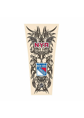 NHL Tribal Tattoo Sleeve (Men's One Size) - New York Rangers - Peazz Toys