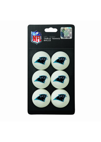 Franklin NFL Table Tennis Balls 6 Pack - Carolina Panthers - Peazz Toys