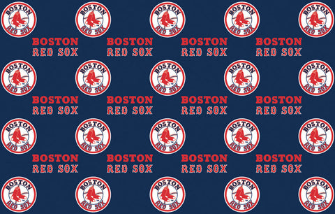 2-Packages of MLB Gift Wrap - Red Sox - Peazz Toys