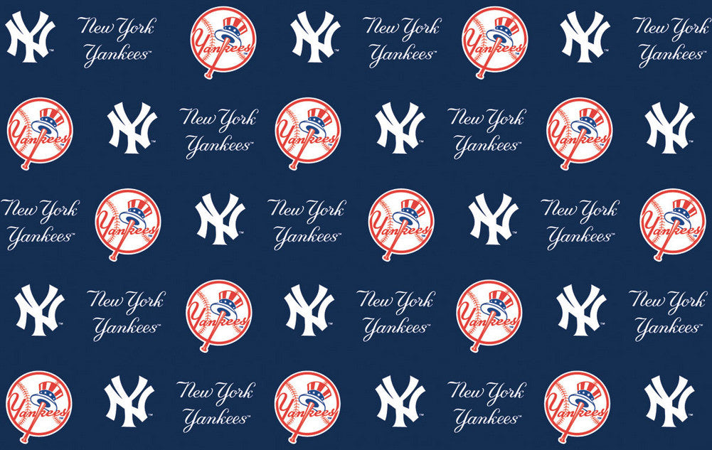 2 Packages of MLB Gift Wrap Yankees