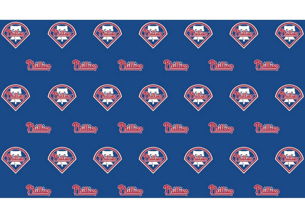 2 Packages of MLB Gift Wrap Phillies