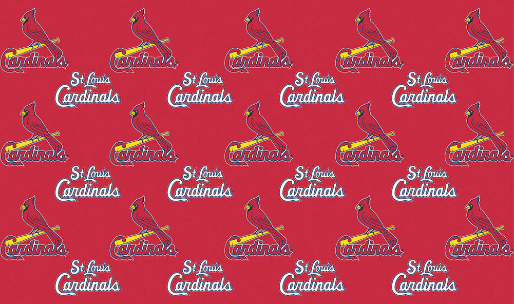 2 Packages of MLB Gift Wrap Cardinals