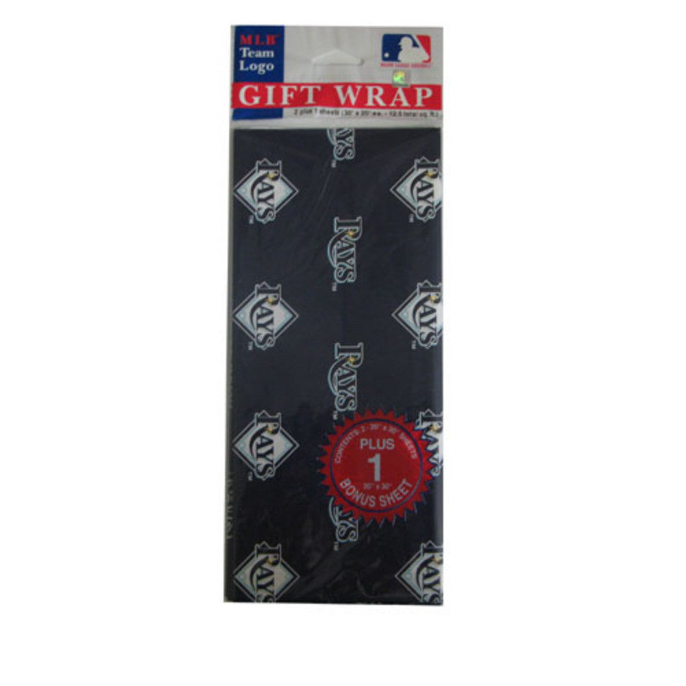 2 Packages of MLB Gift Wrap Devil Rays