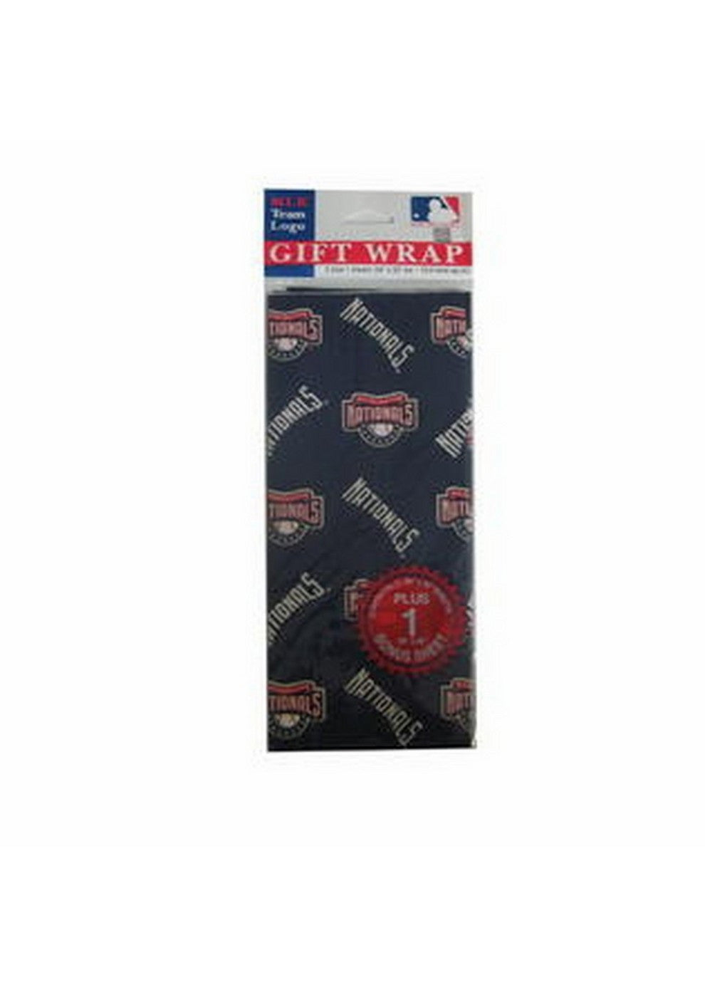 2 Packages of MLB Gift Wrap Nationals