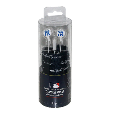 Shoelace Earbuds - New York Yankees - Peazz Toys