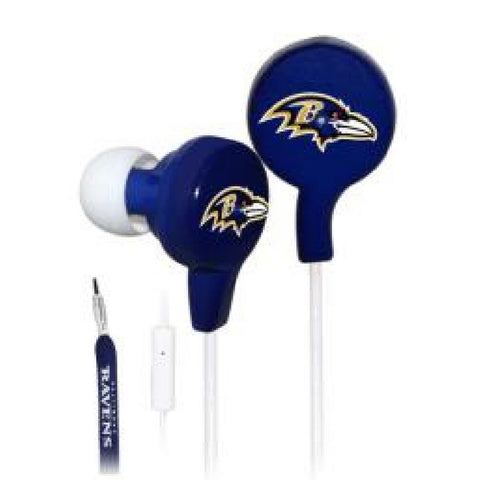 Shoelace Earbuds - Baltimore Ravens - Peazz Toys